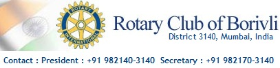 Rotary Club of Borovli, Borivali, Boriwali, Dist 3140, India